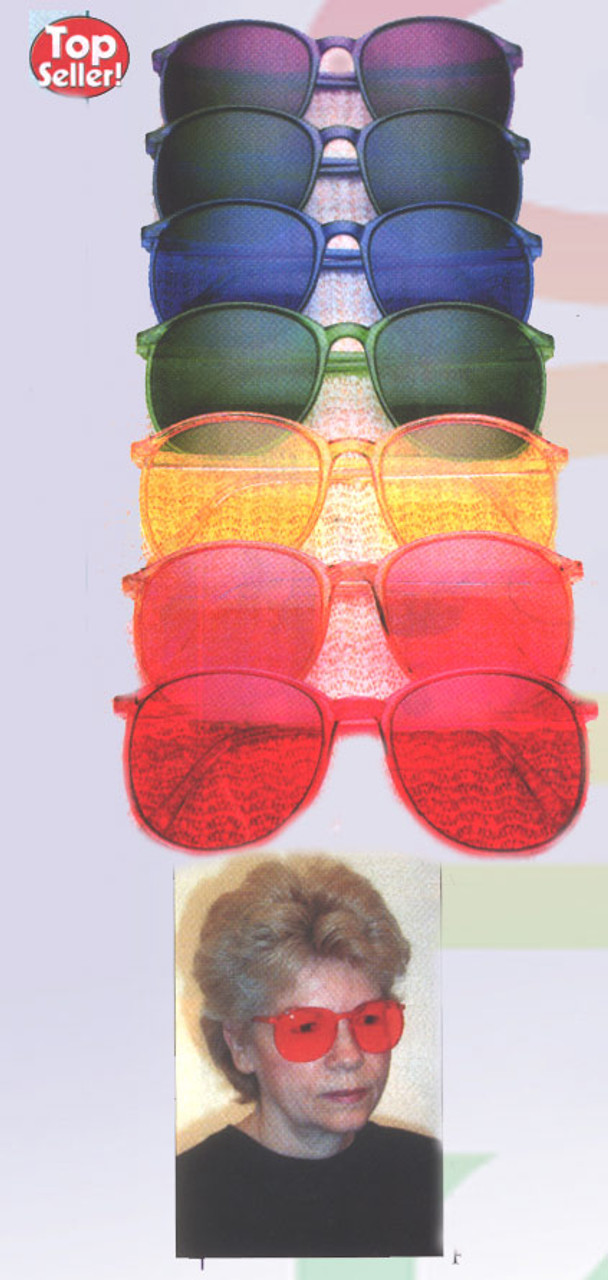 Mood Enhancing Colors color therapy glasses- 9 rainbow chakra colors - bodytools