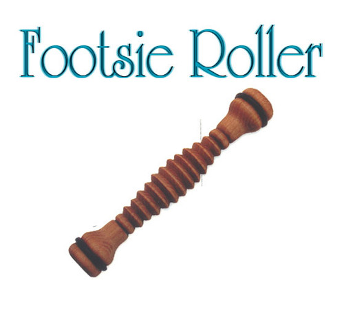 Footsie Roller - fair trade mohagany packaged our best seller