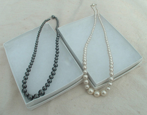 Magnetic Pearls and Hematite Necklace comes boxed