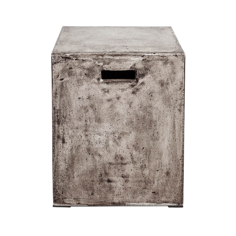 Concrete look side table