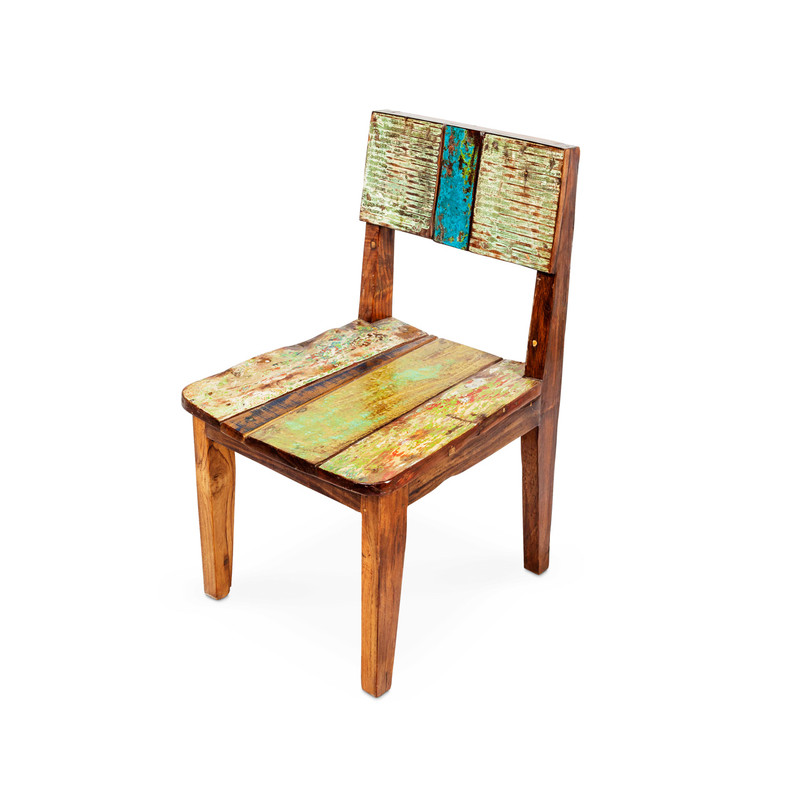 recycled timber dining chair