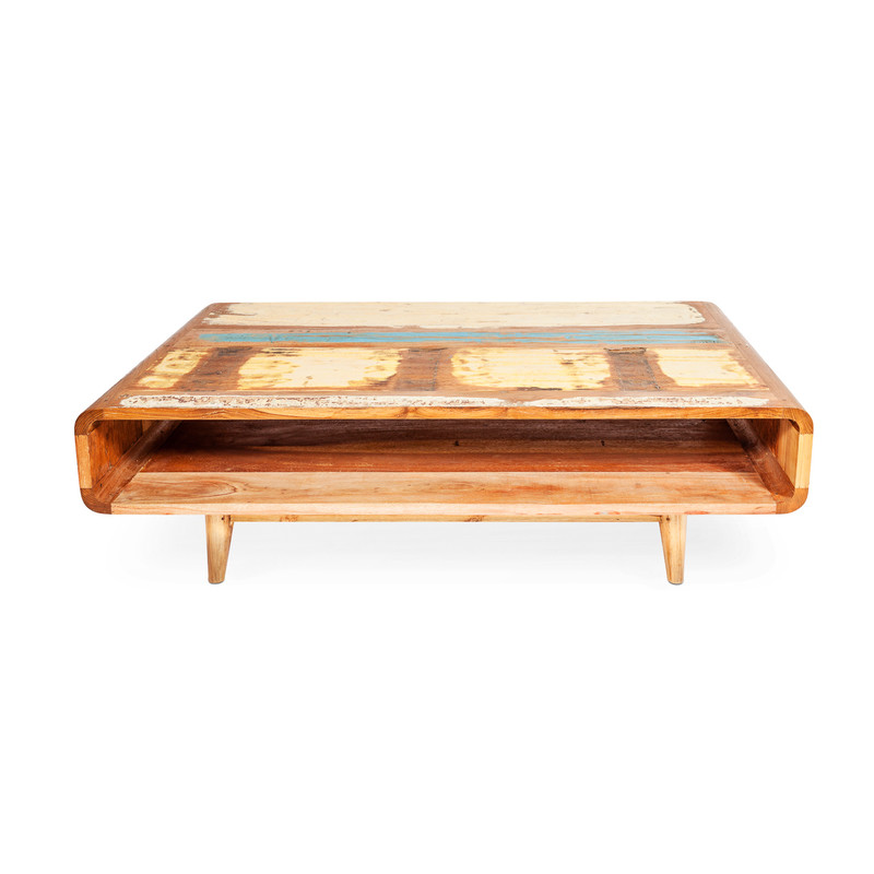 boat timber coffee table