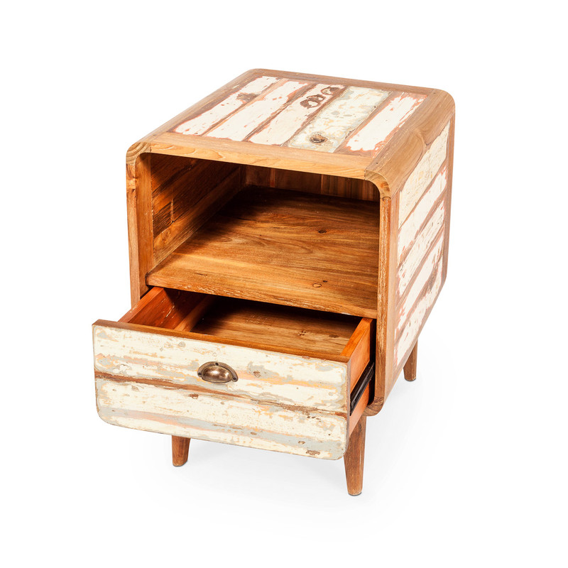 retro bedside table drawers