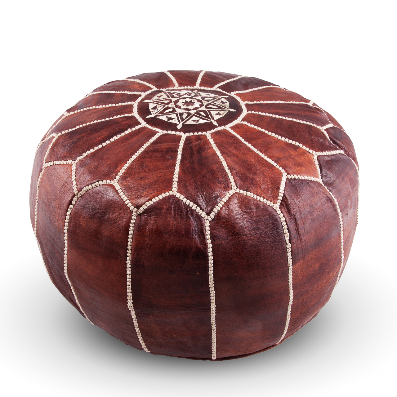 Square handcrafted moroccan leather pouf dark tan pouf pouffe ottoman - Moroccan Leather Pouffe Pouf Leather Pouf Ottoman