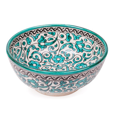 Fes Ceramic Bowl from Morocco - green