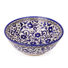 Fes Ceramic Bowl from Morocco-blue