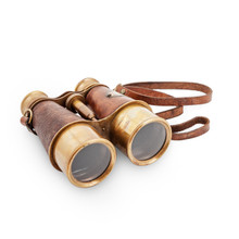 Brass Leather Binoculars
