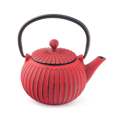 Cast Iron Teapot Red Small