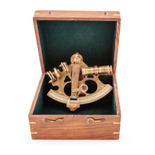 Brass Sextant in Timber Box