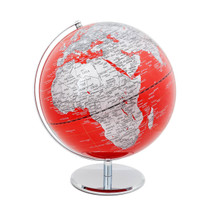 Red and Silver World Globe