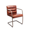 Aged Leather Meeting Chair