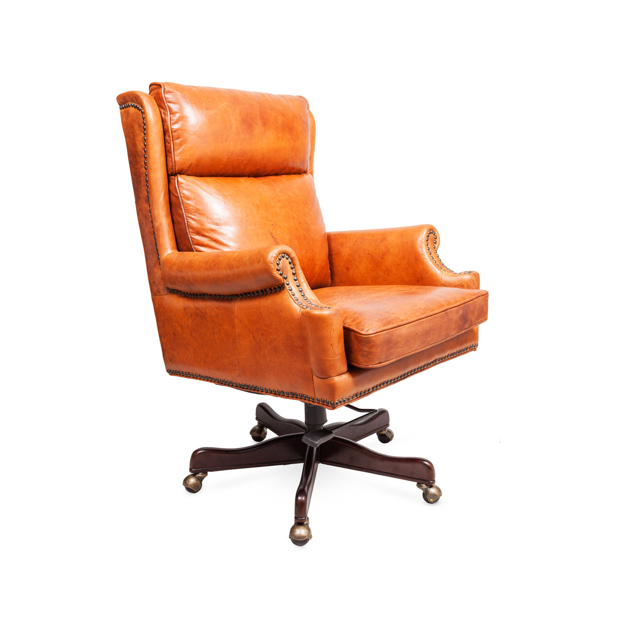 Wonderful image of Tan Leather Office Chair Aged Leather Office Chair See with #C1530A color and 1280x1280 pixels