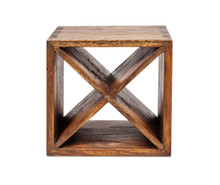 Walnut timber wine cube