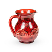 Ceramic Moroccan Water Jug Red