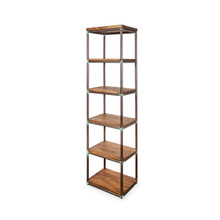 Timber and Metal Industrial Shelves