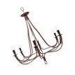 6 light Moroccan Wrought Iron Chandelier