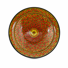 Moroccan Ceramic Bowl Red 40cm