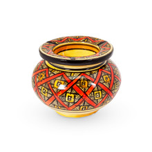 Moroccan Pottery Ashtray Red