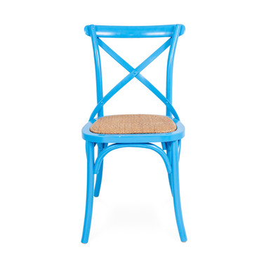 Crossback Chair Blue front