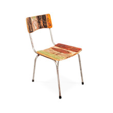 retro boat timber cafe chair