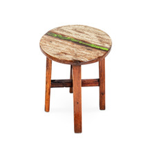 Boat timber stool