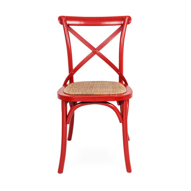 Crossback Chair Red