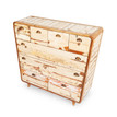 timber chest of drawers