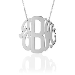 Block & Script Monogram Necklace