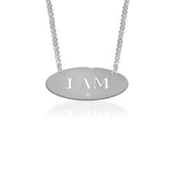 """I Am"" Empowerment Pendant with Diamond Accent"