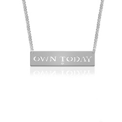 """""""Own Today"""" Empowerment Pendant with Diamond Accent"""