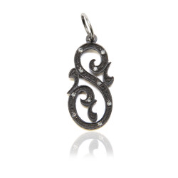 Oxidized SS Companion Fancy Initial