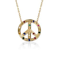 Peace Charm Gemstone Pendant