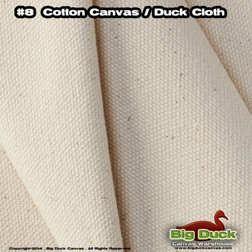"#8/60"" Cotton Canvas Fabric / Duck Cloth (18oz) - 18oz NATURAL"