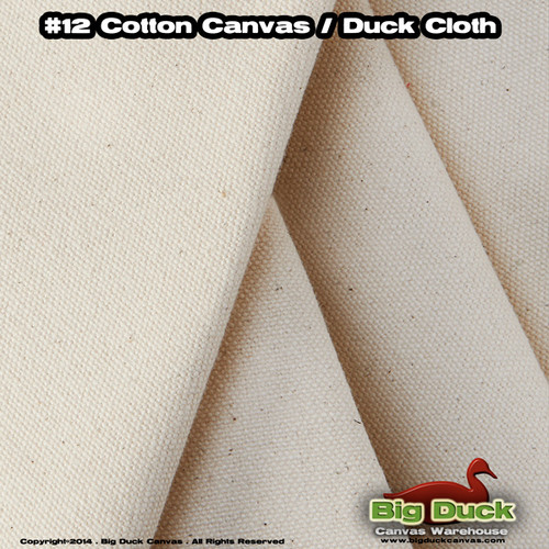 "#12/84"" Cotton Canvas Fabric / Duck Cloth (11.5oz) - Wide Canvas Material"