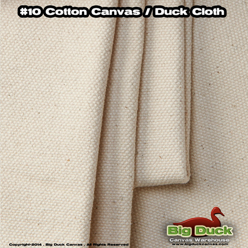 "#10/96"" Cotton Canvas Fabric / Duck Cloth (15oz) - NATURAL"