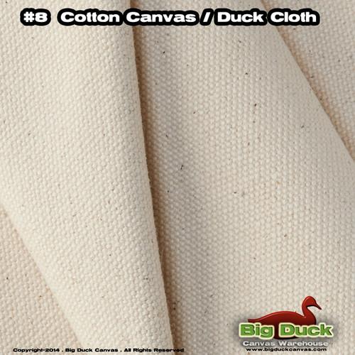 "#8/54"" Cotton Canvas Fabric / Duck Cloth (18oz) - NATURAL"