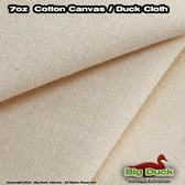 7oz Cotton Canvas Fabric / Duck Cloth - NATURAL