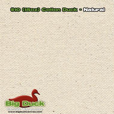 Number 10 - Natural Cotton Canvas / Duck Cloth - 15oz