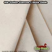 "#12/72"" Wide Cotton Canvas Fabric / Duck Cloth - NATURAL"