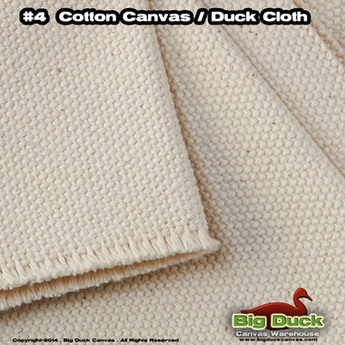 #4 Cotton Canvas Fabric / Duck Cloth (24oz) - NATURAL