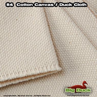 #4 Cotton Canvas Fabric / Duck Cloth (24oz) - NATURAL