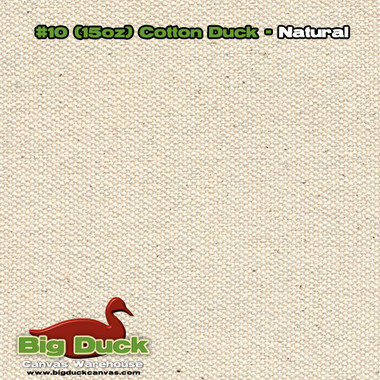 Number 10 - Natural Cotton Canvas / Duck Cloth - 15oz
