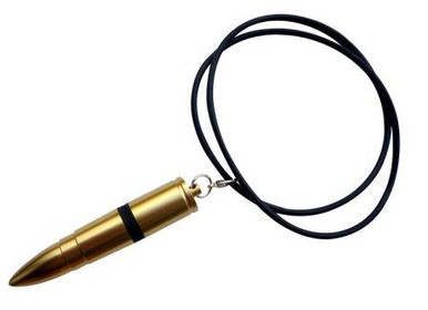 The Discreet Pirates Golden Bullet Neck Chain Vibrator