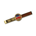 Goldplated tie bar with Republican logo