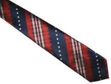 Patriotic tartan design with rows of stars.