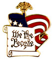 """We the People"" Lapel Pin."