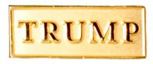 "TRUMP gold lapel pin. Size: 1"""