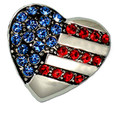 I Love the USA Heart Brooch/Pin