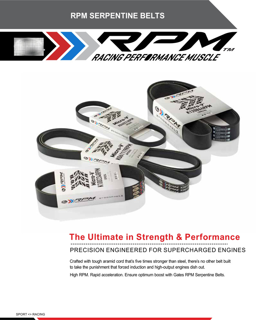 • Gates Performance Belts