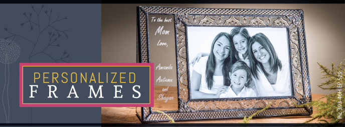Personalized glass picture frames for your special photos, great gifts